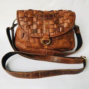 BED STU Cobbler Series Brown Leather Crossbody Bag